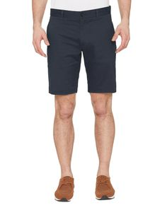 FARAH Hawk Chino Shorts in True Navy summer holiday sunshine shorts menswear mens clothing tropical blue smart shorts cotton tailored.