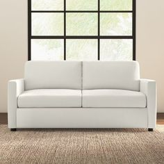 Darby Home Co Greenlaw Sofa Upholstery: Classic Bleach White
