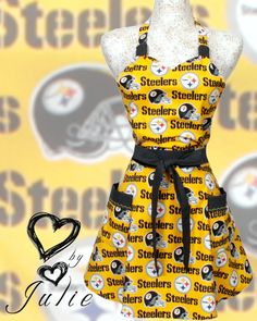 Steelers Apron NFL football Pittsburgh Steelers -- just especially for football with the in-laws!! (who are avid Browns fans!) ;)