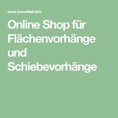 Online Shop für Flächenvorhänge und Schiebevorhänge