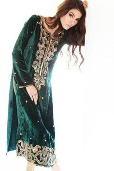 Velvet Salwar Kameez Designs Pakistani Pattern 2015 Collection