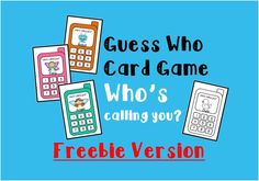 *FREE* Guess who card game! Great way to practice asking questions~