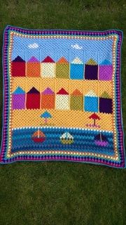 'Day at the Beach' blanket pattern to purchase by Liz Barnard at The Wool Loft. Also available as a kit here: http://www.thewoolloft.co.uk/store/p37/%27A_Day_at_the_Beach%27_Crochet_Blanket_Kit.html