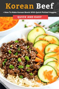 Korean Beef made with ground beef is a 20 minute Asian inspired meal that tastes as good as Korean BBQ. The combination of savory, sweet and spicy flavors makes this simple ground beef recipe completely irresistible! #groundbeef Korean Beef, Korean Food, Kitchen Recipes, Cooking Recipes, Pork Recipes For Dinner, Ground Beef Recipes, Asian Recipes, Easy Recipes, Easy Meals