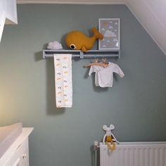 Babykamer | Flexa Early Dew, grijs en okergeel