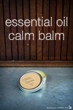 DIY Essential Oil Calm Balm