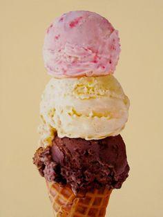 triple ice cream - oriana kacicek - painting