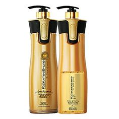 Keratin Cure Professional Brazilian Hair Treatment V2 LGel Brazilian Hair Treatment 2 Piece Pro kit -1 Clarifying Shampoo - 2 Gold and Honey 960 ml / 32.5 Fl Oz Wash the Same Day New Tropical Scent Formula * You can find out more details at the link of the image.