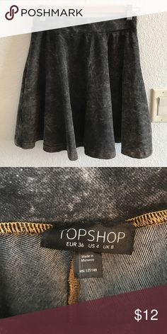TOPSHOP Skater Skirt Super cute and awesome material, just too small for me now! I ship fast! Will drop prices with bundles! 💕✨ Topshop Skirts Circle & Skater