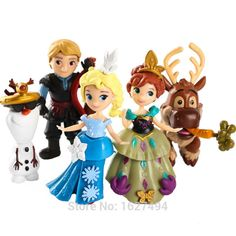 Snow Queen Elsa Anna Princess Dolls Statue PVC Action Figures Ice Palace Throne Olaf Anime Figurines Castle Play Set Kids Toys