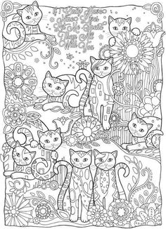 Coloring Page For The Crazy Cat Person In All Of Us