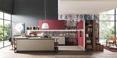 #Cucina modello #MARINALINE. Isole centrali e blocchi di colonne possono sostituire elementi architettonici e rivelarsi un ottimo #divisorio all'interno dell'ambiente #giorno. By FEBAL CASA
