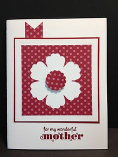 Delightful Dozen Mother's Day Card  Stampin' Up! Rubber Stamping  The little pennant at the top of this card makes this card special.  It is a perfect design element.