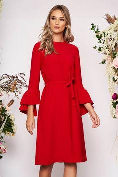 Rochie Rosie Midi cu Cordon detasabil Wrap Dress, Cold Shoulder Dress, Dresses With Sleeves, Long Sleeve, Fashion, Vestidos, Tulle, Moda, Sleeve Dresses