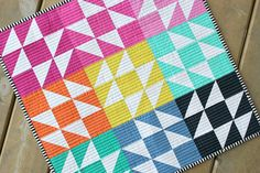 "Ooh - this is a fun one! ""Sea Breeze"" mini quilt from Megan Bohr of Canoe Ridge Creations."