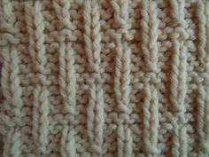 Raindrop knitting stitch