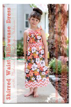 Shirred Waist Pillowcase Dress How-to Tutorial