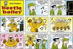 Beetle Bailey strip for April 2016 Mort Walker, Beetle Bailey, Old Comics, April 24, American Comics, Hilarious, Funny, Just For Laughs, Comic Strips
