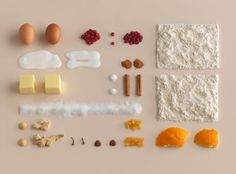 I love this unique approach to food styling by Evelina Bratell and photographed by Carl Kleiner for IKEA's new baking book called Hembakat är Bäst (Homemade is Best). Speaking of IKEA, how amazing is their new ad featuring 100 cats? Food Styling, Food Photography Styling, Object Photography, Styling Tips, Photography Ideas, Food Design, Foto Still, Things Organized Neatly, Best Cookbooks