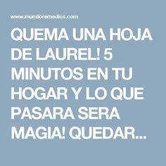 QUEMA UNA HOJA DE LAUREL! 5 MINUTOS EN TU HOGAR Y LO QUE PASARA SERA MAGIA! QUEDARAS EN SHOCK ESTO ES GRANDIOSO!
