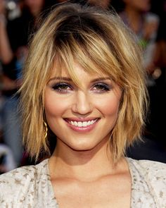 Dianna Agron - 8 Fall Haircuts We Know You'll Love - Shaggy Bob
