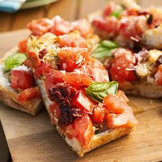 This popular side-dish recipe is seasoned with a chunky tomato, basil, and garlic salsa. If you wish, slice into smaller pieces and serve as an appetizer.