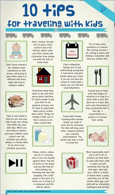 10 amazing tips for travel with kids! Vacation rentals are a great option to give you space to spread out and play! VacationCondos can help!