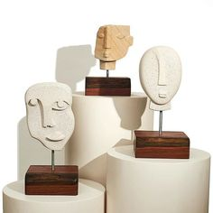 sculptures hand carved from sandstone and hebel ✨⚒ Ceramic Decor, Ceramic Clay, Modern Sculpture, Sculpture Art, Steinmetz, Sculptures Céramiques, Ceramic Sculptures, Shattered Glass, Hand Painted Ceramics