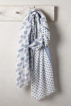 """Paisley Block Print Scarf  BeckSondergaard co-founders Lisa Beck and Anna Sondergaard may not have pocketed prominent fashion pedigrees, but that didn't keep the Danish designer-duo from creating a veritable fashion empire. We can't get enough of BeckSondergaard's contemporary staples, like this block-printed scarf.  By BeckSondergaard Cotton 78""""L, 43""""W Style No. 31265721"""