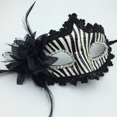 Sexy Black White Leather Masks Venetian Masquerade Prom Party Mask ...