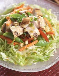 Turn your favorite spicy Kung Pao flavors into a tasty chicken salad atop a bed of refreshing shredded lettuce. *Serves 4*