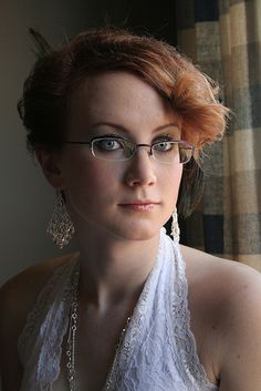 "A reader says: ""I think I really want to get some special glasses. My glasses are part of me, y'know? I look wrong without them."" Brides in glasses"