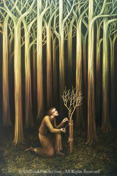 Alla Tsank. Fantasy oil painter.