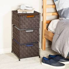 "ClosetMaid 17.8""W Storage Drawer & Reviews   Wayfair Craft Storage Cart, Drawer Storage Unit, Cube Storage, Small Storage, Storage Baskets, Storage Spaces, Storage Chest, Rolling Storage, Mobile Storage"