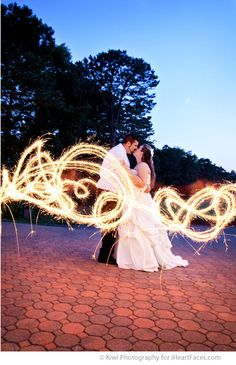 Introduction to Light Painting in Photos - How to photograph with sparklers and more! iheartfaces.com
