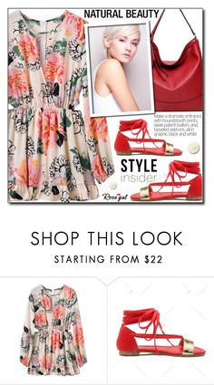 """""""Floral Dress (Rosegal 25)"""" by adnaaaa ❤ liked on Polyvore featuring floral, beautiful, dress and rosegal"""