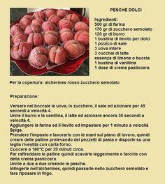 pesche dolci Mini Pastries, Italian Pastries, Italian Desserts, Italian Recipes, Cheesecake Desserts, Mini Desserts, Peach Cookies, Cookie Recipes, Dessert Recipes