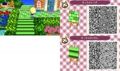 Animal Crossing New Leaf green stone path QR code Would like in another color.