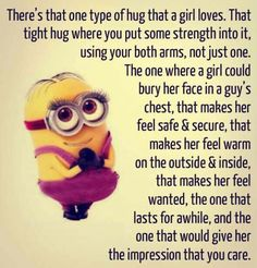 A hug every girl wants and deserves.