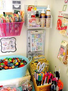 .Organized craft space...