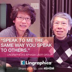 #BHSM tip number three: don't speak differently to me. #aphasia #SLPeeps #tips #communication #talk #speech #speak #listen #help #brain