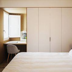 """40 Me gusta, 1 comentarios - twobo arquitectura (@twobo_arquitectura) en Instagram: """"Atico en gracia, detalle de la mesa de estudio del dormitorio. #twobo_arquitectura #twobo #interior…"""""""