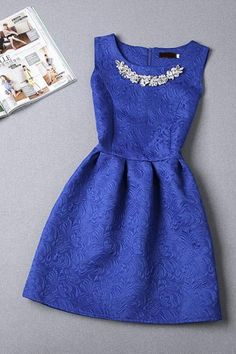 HOT VEST DRESS WITH RHINESTONE