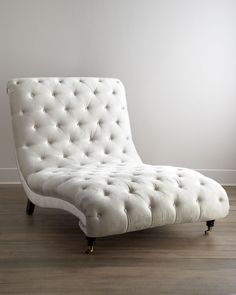 Tufted Silver Chaise by Haute House