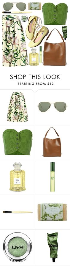 """Lily Garden"" by restyikhyar ❤ liked on Polyvore featuring Ray-Ban, Romeo Gigli, AllSaints, Creed, DKNY, Bobbi Brown Cosmetics, K. Hall Designs (Simpatico), NYX and Aesop"