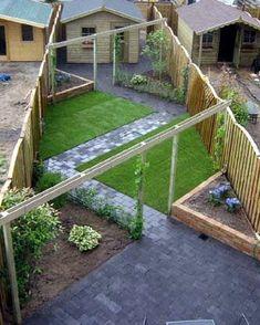 Minimalist Garden Design Ideas For Small Garden 45 Back Garden Design, Backyard Garden Design, Small Backyard Landscaping, Terrace Design, Backyard Bbq, Garden Design Layout Modern, Driveway Landscaping, Landscaping Ideas, Back Gardens