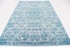 AmazonSmile: Abstract Traditional 7 feet by 10 feet (7' x 10') Sofia Turquoise Area Rug $129