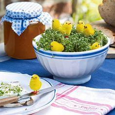 Gartentisch Deko Ideen Hühnchen
