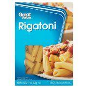 Great Value Rigatoni Pasta, 16 oz
