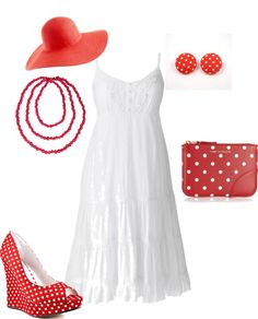 """""""Red and White"""" by amichelleallred on Polyvore"""